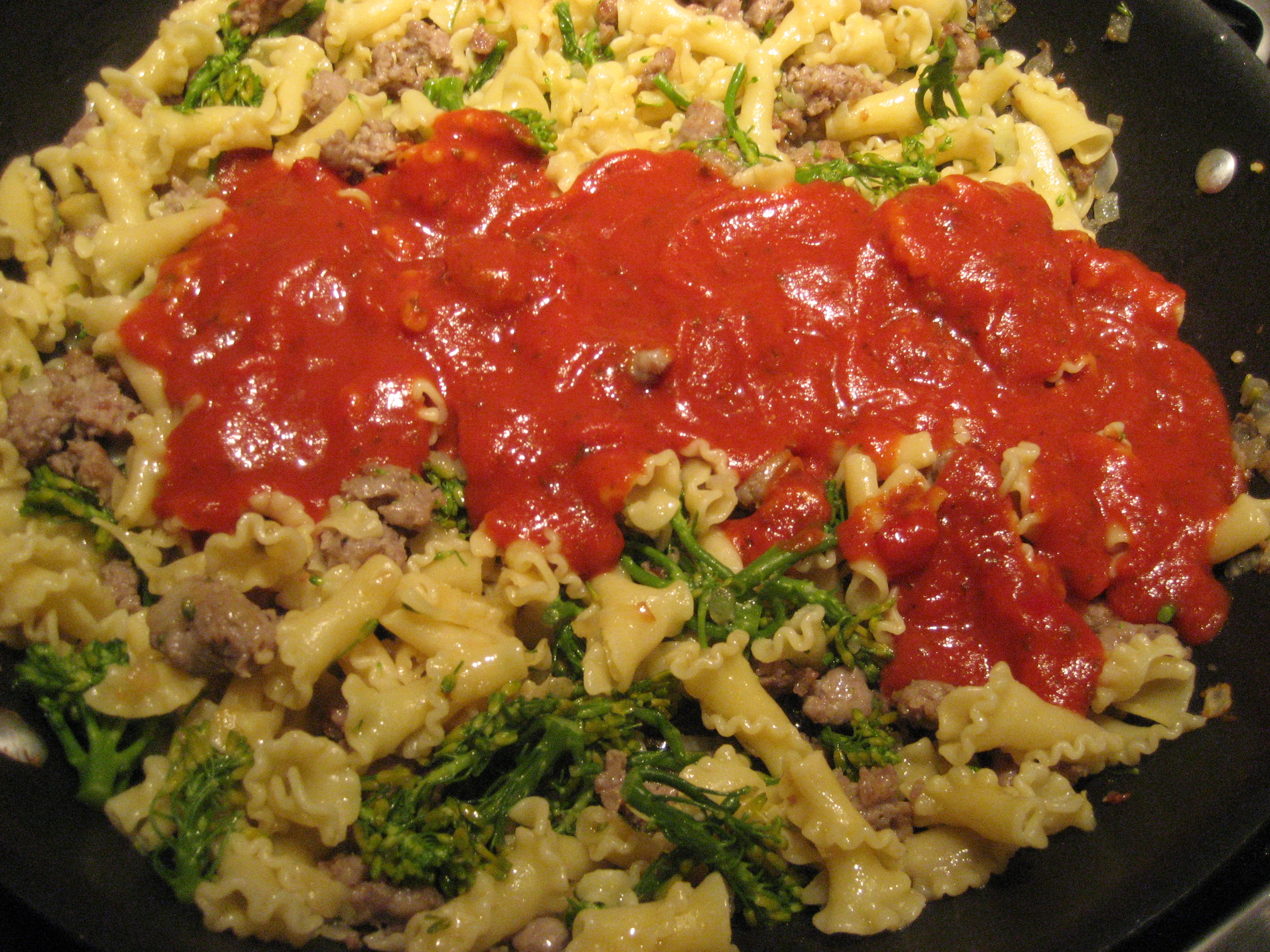 Campanelle With Roasted Vegetables And Marinara Recipes — Dishmaps