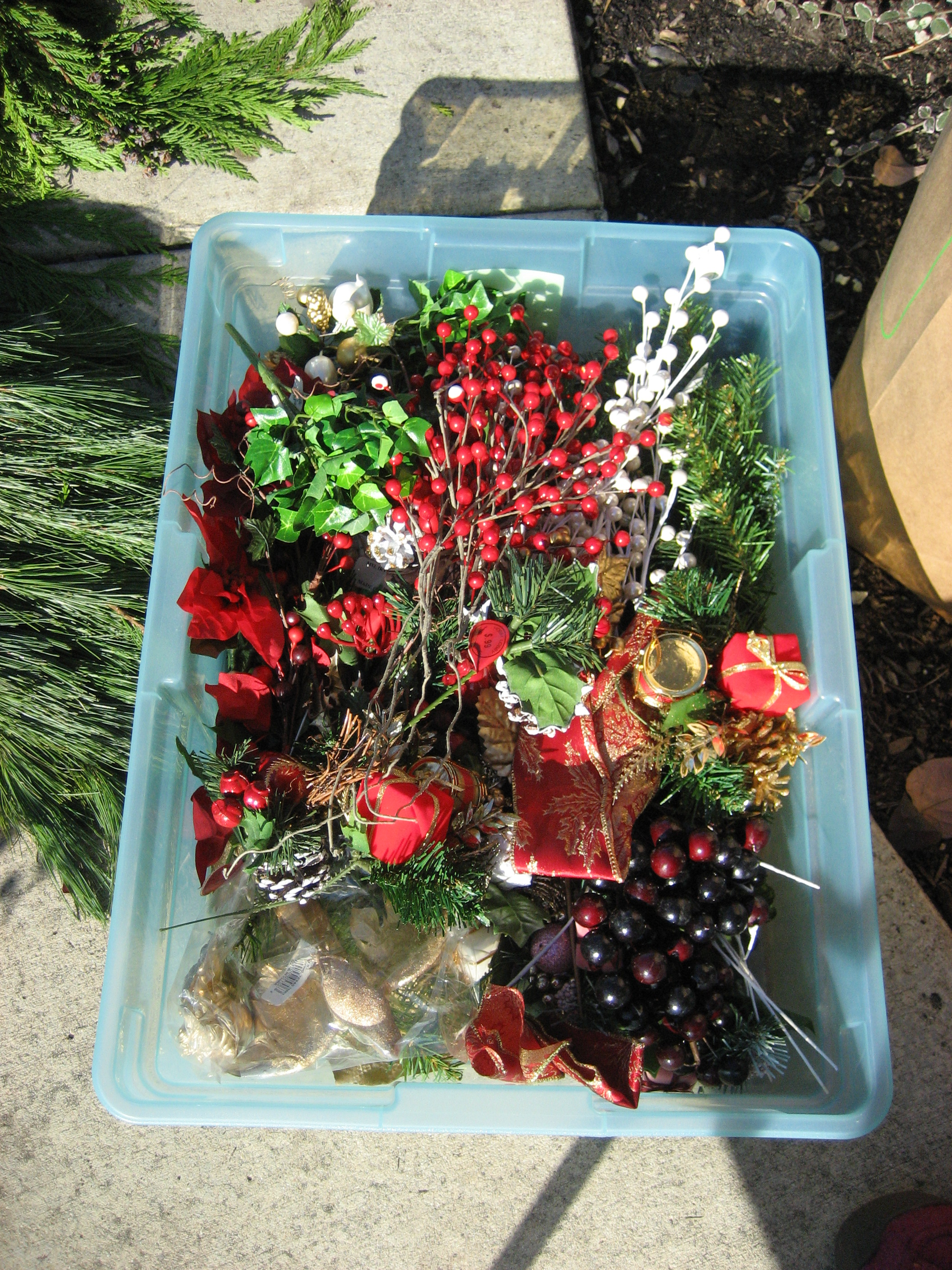 Gorgeous do it yourself winter urns more is more mom christmas embelishments and floral picks solutioingenieria Gallery