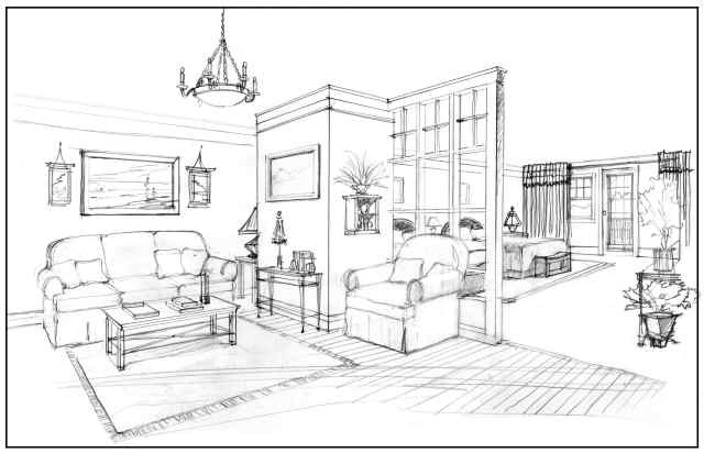 Interior design more is more mom for Interior designs sketches