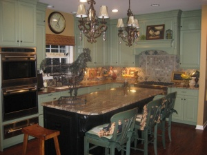 My glorious green kitchen!